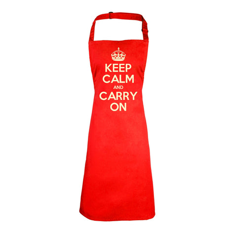Official Keep Calm And Carry On Heavyweight Apron