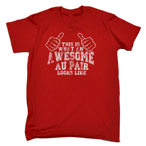 123t Men's This Is What An Awesome Au Pair Looks Like Funny T-Shirt