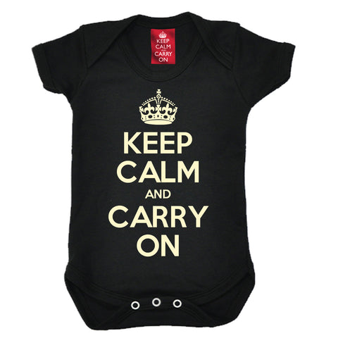 Official Keep Calm And Carry On Babygrow