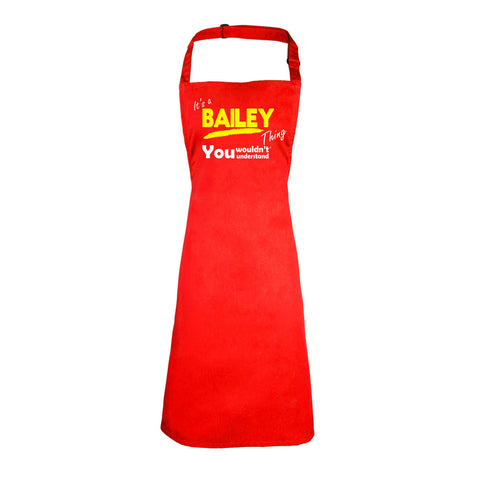 123t Kids It's A Bailey Thing You Wouldn't Understand Cooking Playtime Apron