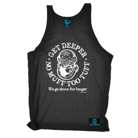Open Water Get Deeper No Muff Too Tuff Scuba Diving Vest Top