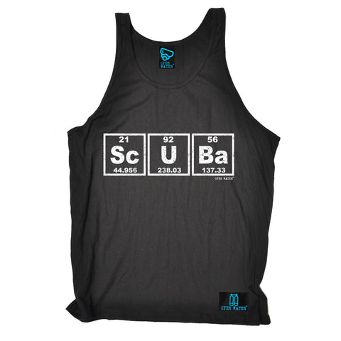 Open Water Scuba Periodic Elements Design Scuba Diving Vest Top