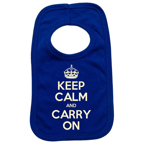 Official Keep Calm And Carry On Baby Bib