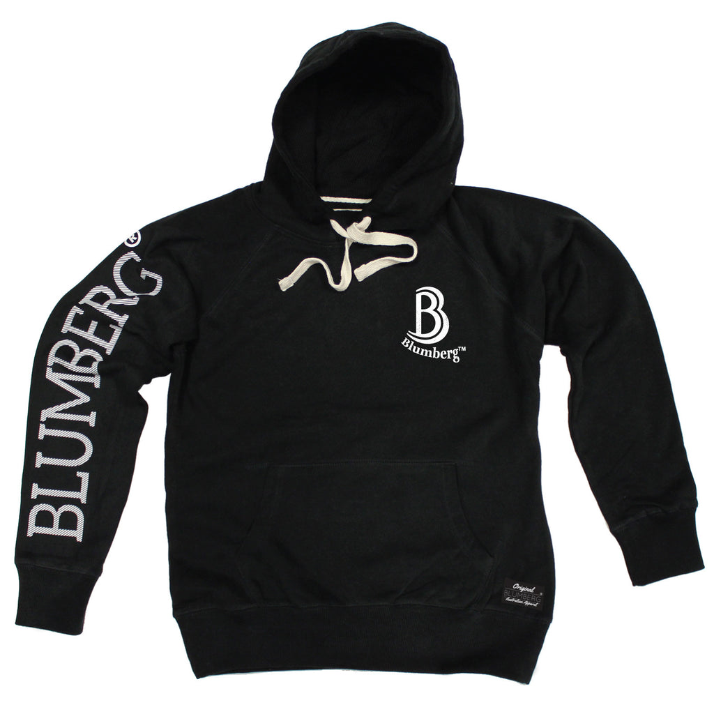 Blumberg Australia Women's B Blumberg Logo White Text Breast Pocket Design Premium Hoodie