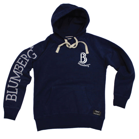 Men's B Blumberg Logo White Text Breast Pocket Design - Premium Hoodie