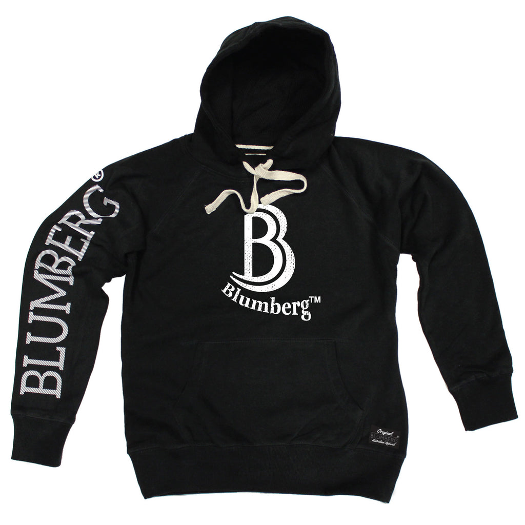 Blumberg Australia Men's B Blumberg White Text Chest Design Premium Hoodie