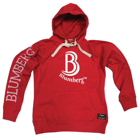 Men's B Blumberg White Text Chest Design - Premium Hoodie