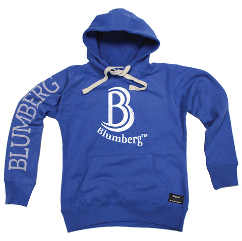 Women's B Blumberg White Text Chest Design - Premium Hoodie
