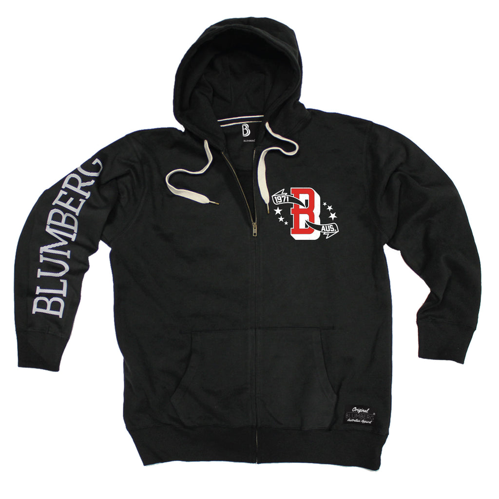 Blumberg Men's B 1971 AUS Breast Pocket Design - Premium ZIP Hoodie