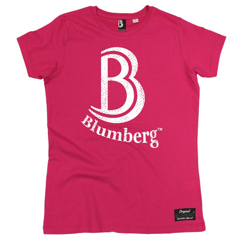 Women's B Blumberg White Text Chest Design - Premium T-Shirt