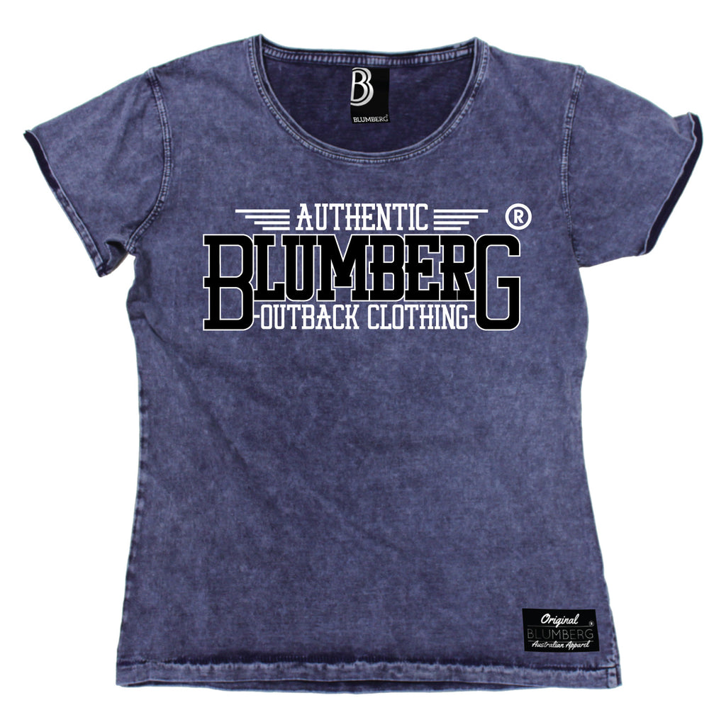 Blumberg Women's Authentic Blumberg Outback Clothing Premium Denim T-Shirt