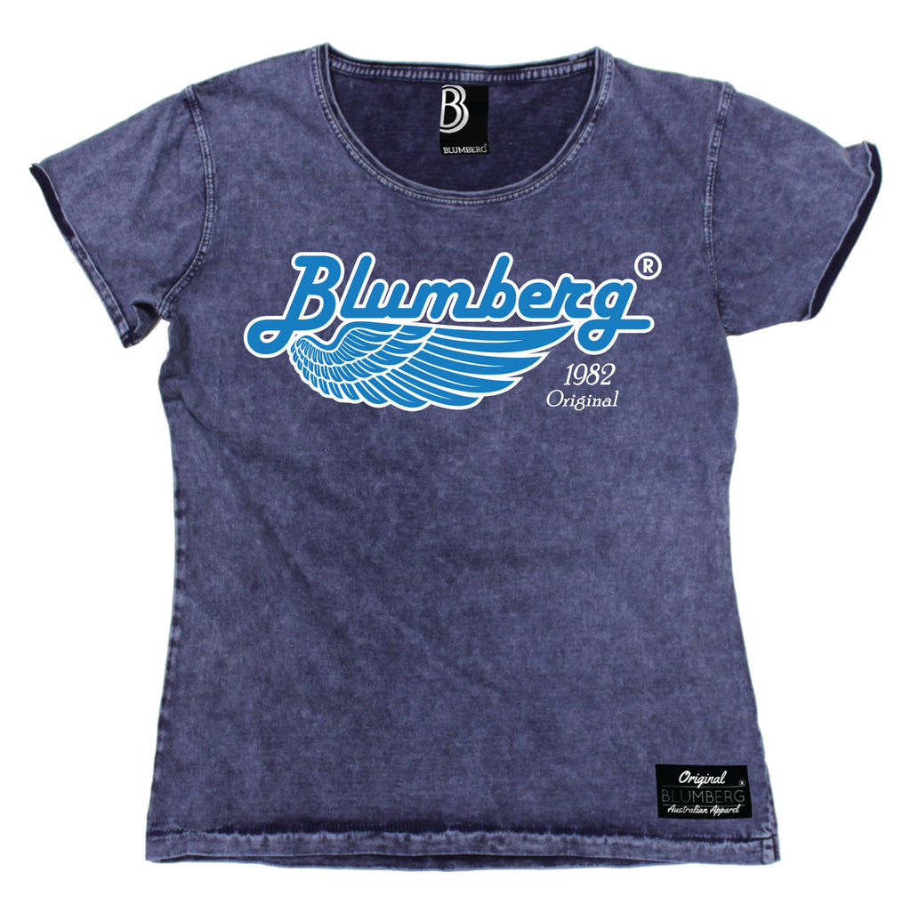 Blumberg Women's 1982 Original Wing Premium Denim T-Shirt