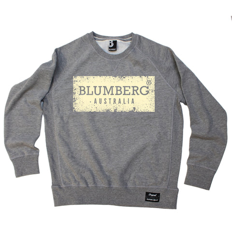 Blumberg Australia Men's Blumberg Australia Cream Distressed Design Premium Sweatshirt