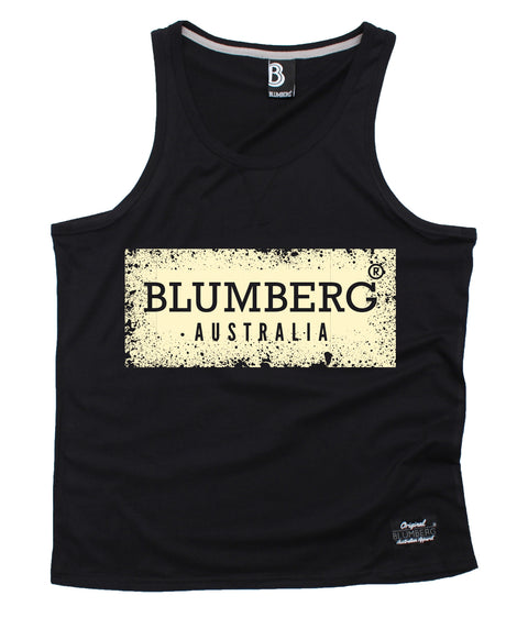 Blumberg Australia Men's Blumberg Australia Cream Distressed Design Premium Vest Tank Top