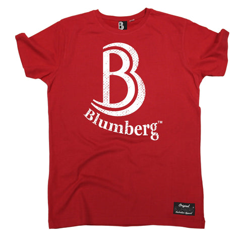 Men's B Blumberg White Text Chest Design Premium T-Shirt