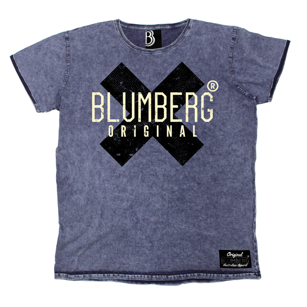 Men's Blumberg Original Black X Design Premium Denim T-Shirt