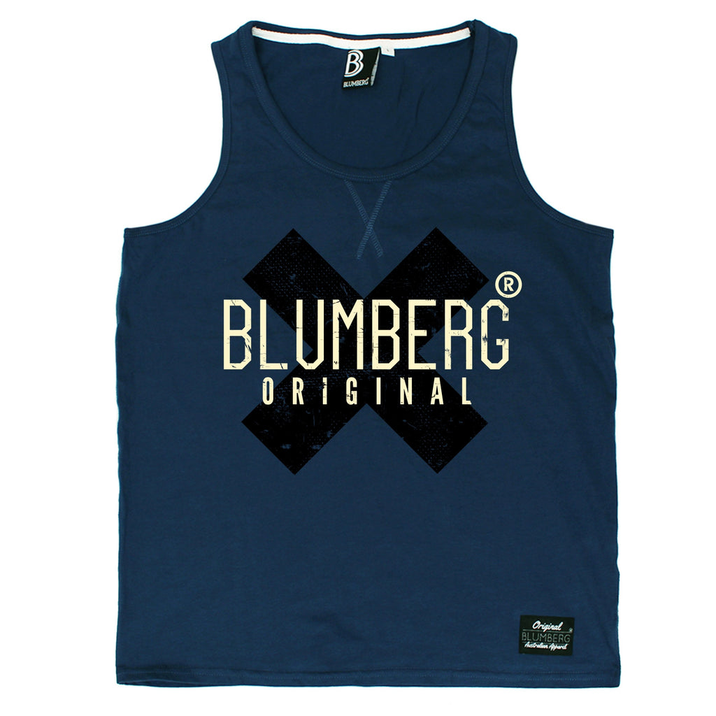 Blumberg Australia Men's Original Black X Design Premium Vest Tank Top