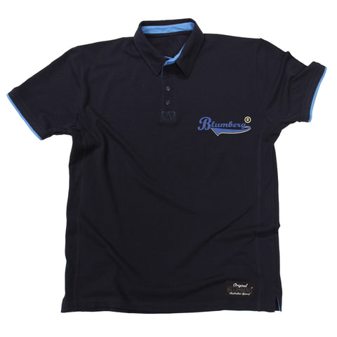 Men's Blumberg Blue Text Pocket Design Premium Polo Shirt