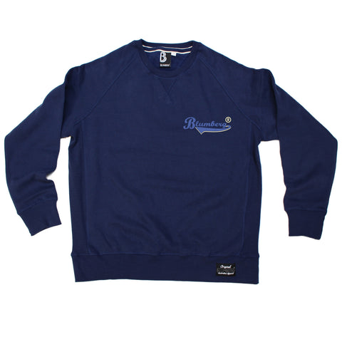 Blumberg Australia Men's Blumberg Blue Text Pocket Design Premium Sweatshirt