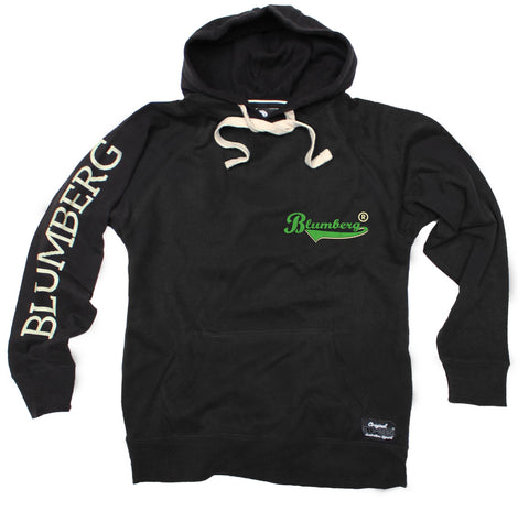 Women's Blumberg Green Text Breast Pocket Design - Premium Hoodie