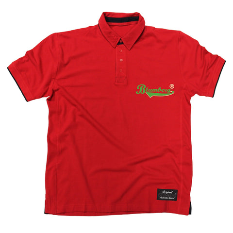 Men's Blumberg Green Text Breast Pocket Design Premium Polo Shirt