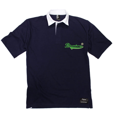 Men's Blumberg Green Text Breast Pocket Design Premium Rugby Shirt