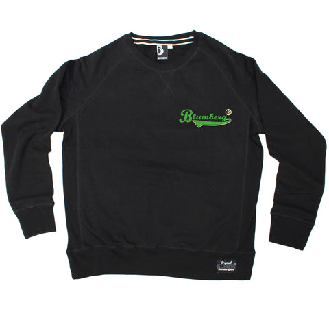 Blumberg Australia Men's Blumberg Green Text Breast Pocket Design Premium Sweatshirt