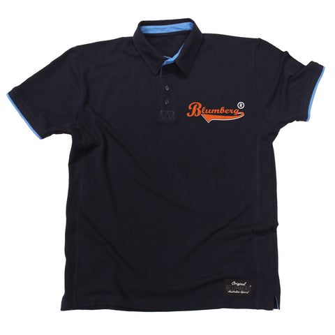 Men's Blumberg Orange Text Breast Pocket Design Premium Polo Shirt