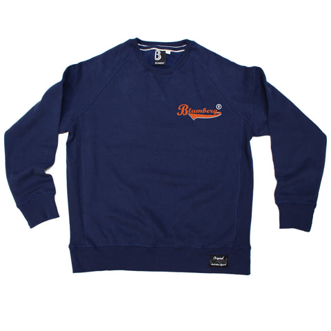 Blumberg Australia Men's Blumberg Orange Text Breast Pocket Design Premium Sweatshirt