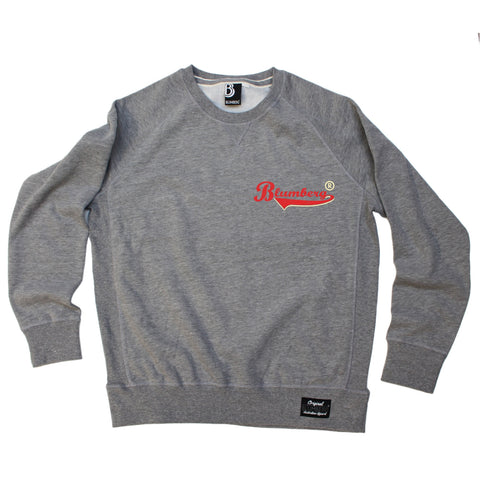 Blumberg Australia Men's Blumberg Red/Cream Text Breast Pocket Design Premium Sweatshirt