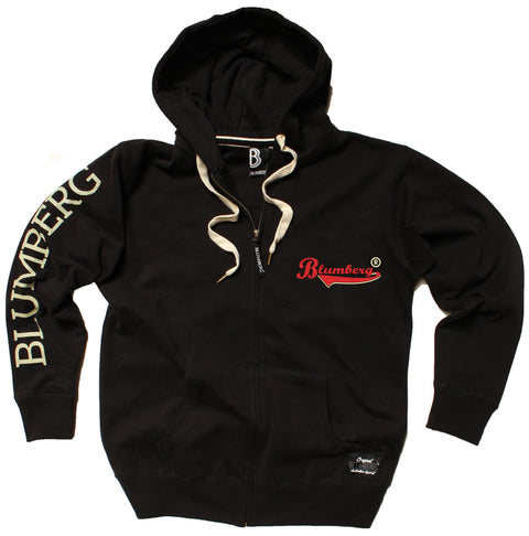 Women's Blumberg Red/Cream Text Breast Pocket Design - Premium ZIP Hoodie