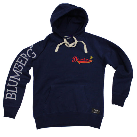 Women's Blumberg Red/Yellow Text Breast Pocket Design - Premium Hoodie