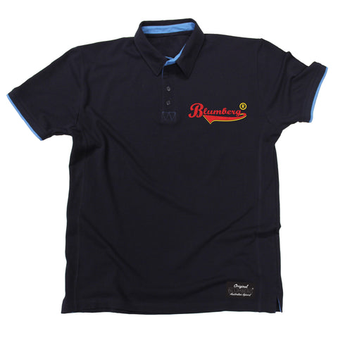 Men's Blumberg Red/Yellow Text Breast Pocket Design Premium Polo Shirt
