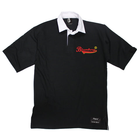 Men's Blumberg Red/Yellow Text Breast Pocket Design Premium Rugby Shirt