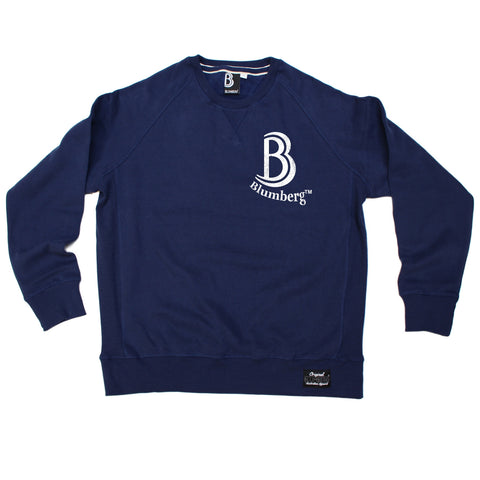 Blumberg Australia Men's B Blumberg Logo White Text Breast Pocket Design Premium Sweatshirt