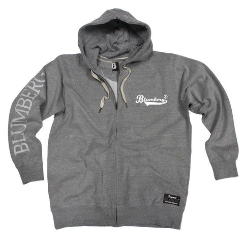 Women's Blumberg White Text Breast Pocket Design - Premium ZIP Hoodie