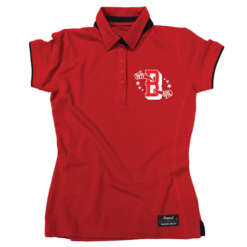 Blumberg Women's B 1971 AUS Breast Pocket Design Premium Polo Shirt