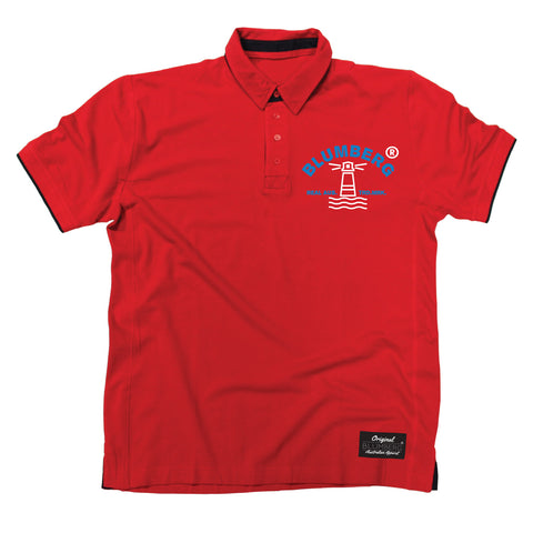 Men's Blumberg Lighthouse Breast Design Premium Polo Shirt
