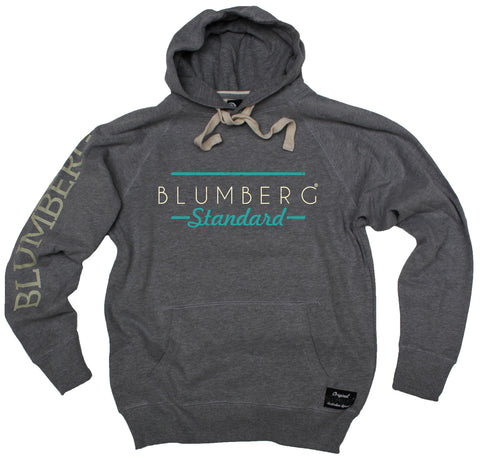 Men's Blumberg Standard Cream/Turquoise Text Design - Premium Hoodie
