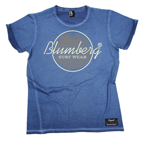 Men's Blumberg Surf Wear Grey Design Vintage T-Shirt