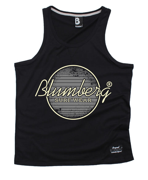 Blumberg Australia Men's Blumberg Surf Wear Grey Design Premium Vest Tank Top