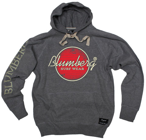 Men's Blumberg Surf Wear Red Design - Premium Hoodie
