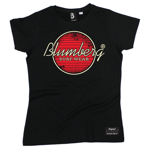 Women's Blumberg Surf Wear Red Design - Premium T-Shirt