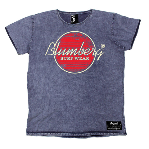 Men's Blumberg Surf Wear Red Design Premium Denim T-Shirt