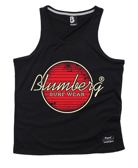 Blumberg Australia Men's Blumberg Surf Wear Red Design Premium Vest Tank Top
