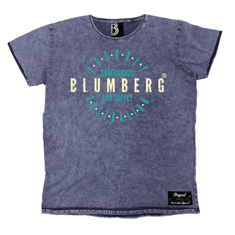 Men's Blumberg Surfboards And Supply Proudly Australian Premium Denim T-Shirt