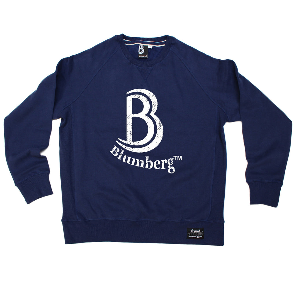 Blumberg Australia Men's B Blumberg White Text Chest Design Premium Sweatshirt