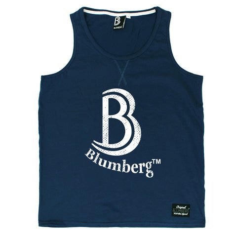 Blumberg Australia Men's B Blumberg White Text Chest Design Premium Vest Tank Top