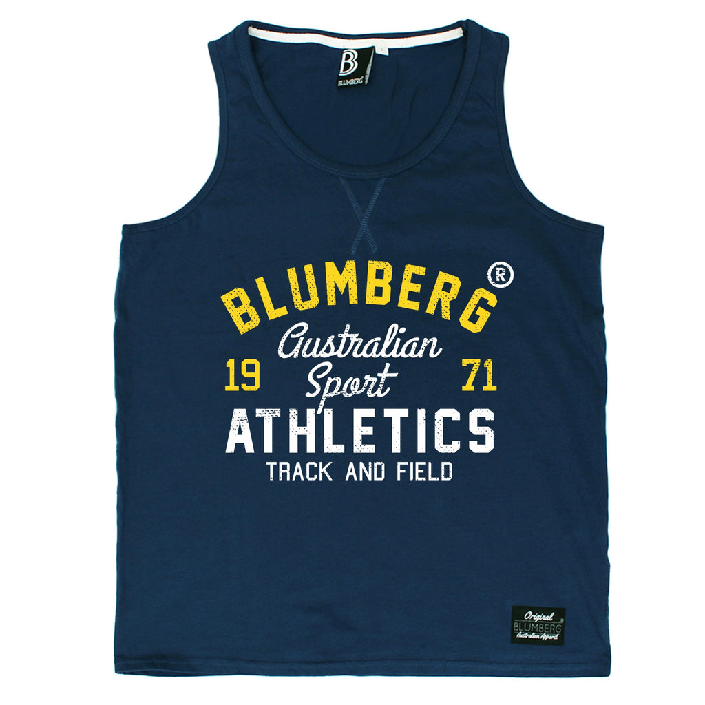 Blumberg Australia Men's Australian Sport Athletics Track And Field 1971 Premium Vest Tank Top