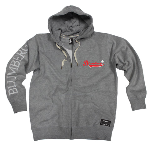 Men's Blumberg Red/White Text Breast Pocket Design - Premium ZIP Hoodie
